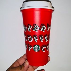 STARBUCKS HOLIDAY REUSABLE DISCOUNT CUP